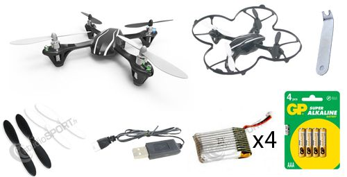 Pack confirmé Hubsan X4 V2 (H107L) par studioSPORT - photo 1