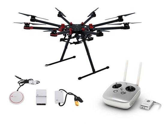 Pack contrôleur de vol DJI A3 & octocoptère S1000+ & module Lightbridge 2