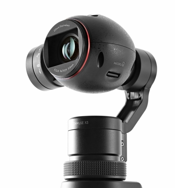 Pack DJI Osmo & valise Plaber vue zoom caméra de face