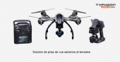 Multirotor Yuneec Q500 4K Typhoon radio st10+ steadygrip CGO3