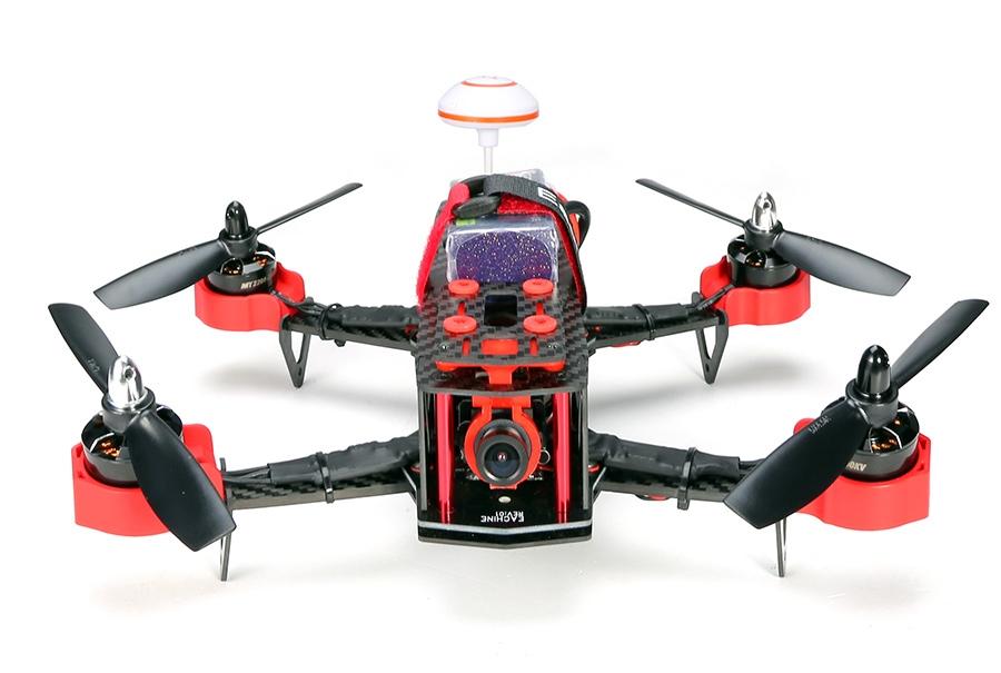 Drone racer Eachine Falcon 250 (RTF) vu de face