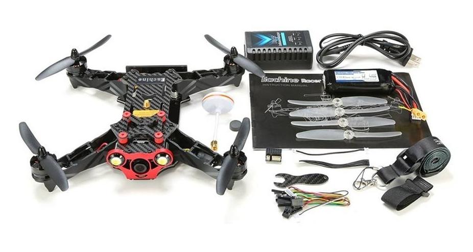 Drone Eachine Racer 250 (RTF) avec hélices, chargeur, batterie et autres accessoires