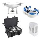 Pack FPV avec DJI Phantom 4, batterie supplémentaire, lunettes Dominator Fatshark et valise copter case