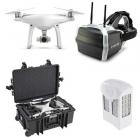 Pack FPV avec DJI Phantom 4, batterie supplémentaire, casque Skyzone et valise copter case