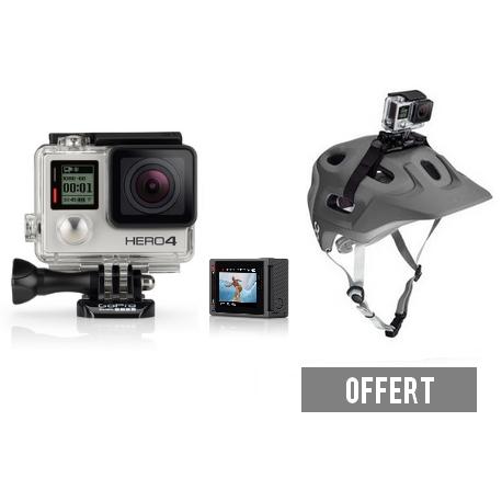 Pack GoPro Hero4 Silver + fixation casque (offert)