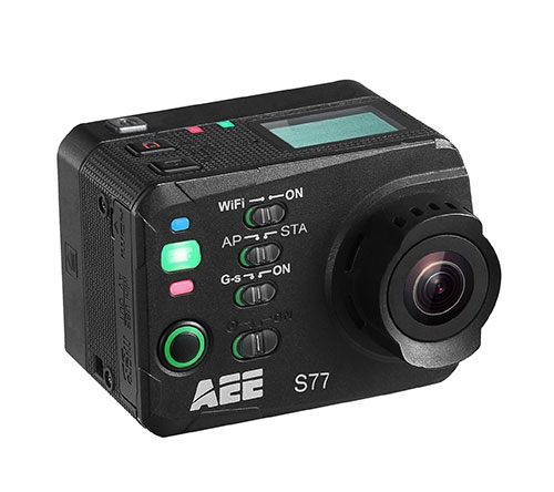 Caméra embarquée PNJcam S77 vu de biais