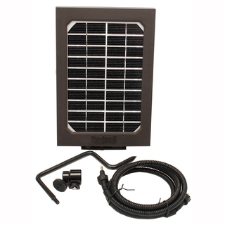 Panneau Solaire Bushnell pour Caméra TrophyCam Wireless GSM/GPRS et accessoires de fixation et câble d'alimentation