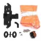 Parachute de secours Mars P3 Lite - vue du kit : toile, platine, servo, vis..