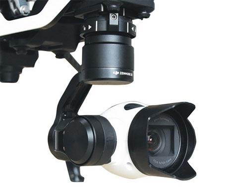 Pare-soleil pour caméra DJI X3 monté sur un Inspire 1