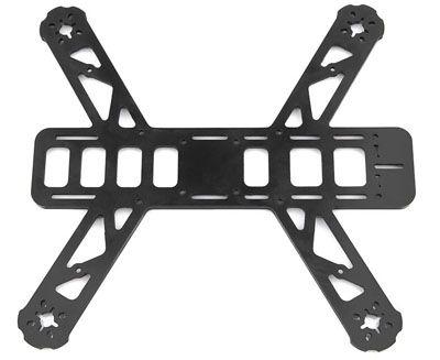 Plaque principale QAV250 Lumenier (carbone 4mm)