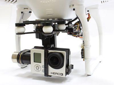 Platine d\'éloignement frontal caméra Phantom 2