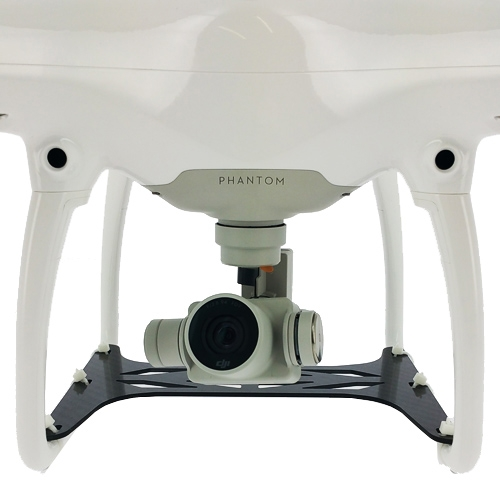 Protection carbone pour caméra DJI Phantom 4 vue avant