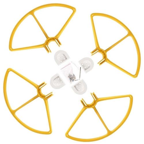 4 protections d\'hélices clipsables pour Phantom 3 avec vis et supports moteur