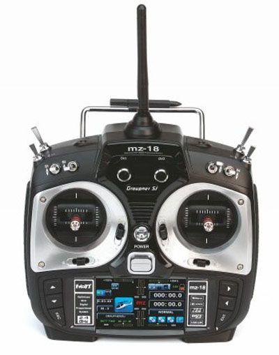 Radio Graupner MZ-18 HoTT, 9 voies + 2 récepteurs