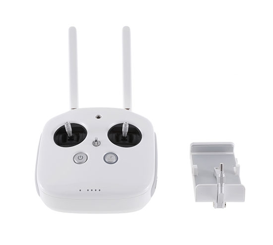 Radiocommande DJI 2.4GHz pour Phantom 4 avec support smartphone et tablette - vue de face