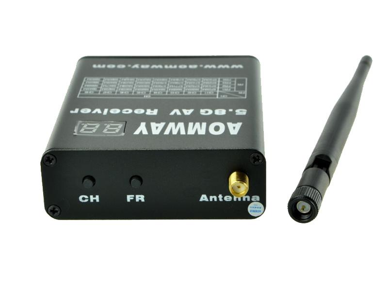Récepteur Aomway 5.8G 32CH avec DVR intégré avec son antenne SMA