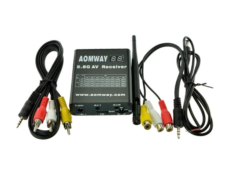 Récepteur Aomway 5.8G 32CH avec DVR intégré et ses accessoires