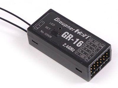Récepteur Graupner GR-16 HoTT 8 voies 2.4Ghz