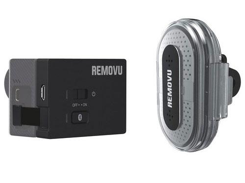 Microphone bluetooth Removu M1 + A1 pour caméra embarquée GoPro hero 3/3+ et 4