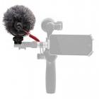 Microphone VideoMicro Rode monté sur un stabilisateur DJI Osmo