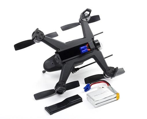 Rodeo 150 BNF vue de l'arrière du drone et de la batterie