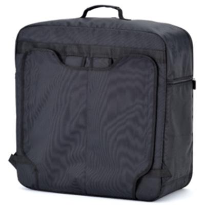 Astucieux, vous pourrez placer les sangles du sac devant ou derrière les rabats selon votre usage : sac ou valise.