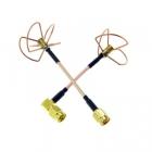 Set d\'antennes Clover Leaf RHCP 5,8 GHz SMA