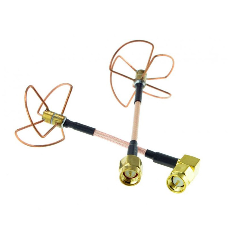 Set d'antennes Clover Leaf RHCP 5,8 GHz SMA