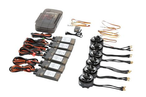 Set de propulsion DJI E800 6 moteurs + ESC + h�lices