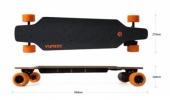 Dimensions longboard électrique Yuneec E-GO Cruiser