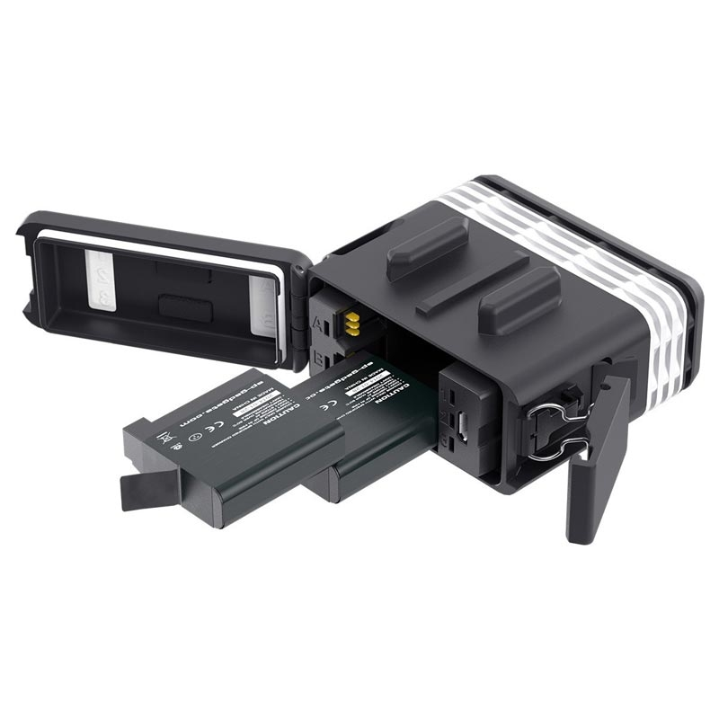 La lampe POV Light 2.0 fonctionne avec 2 batteries GoPro Hero4 (fournies)