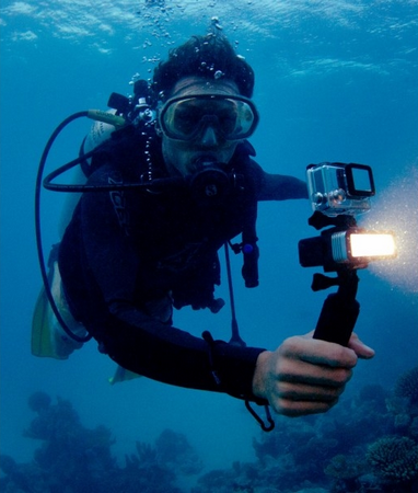 POV Light 2.0 utilisée en plongée