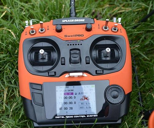 Radiocommande AT9 orange du splash drone auto+ (Plus)