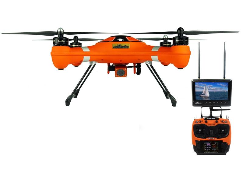Splash Drone SaR SwellPro avec radiocommande AT9 et retour vidéo