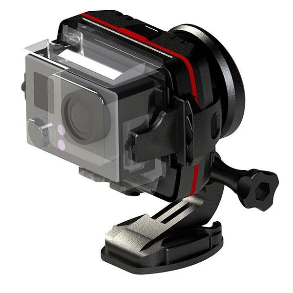 Stabilisateur WenPod X1 avec caisson et GoPro montés dessus
