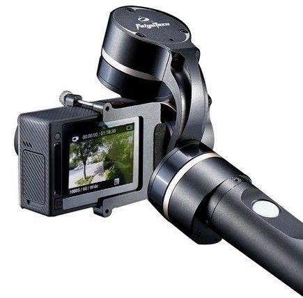 Feiyu Tech G4 pour GoPro monté sur une perche avec une GoPro Hero4 Silver Edition
