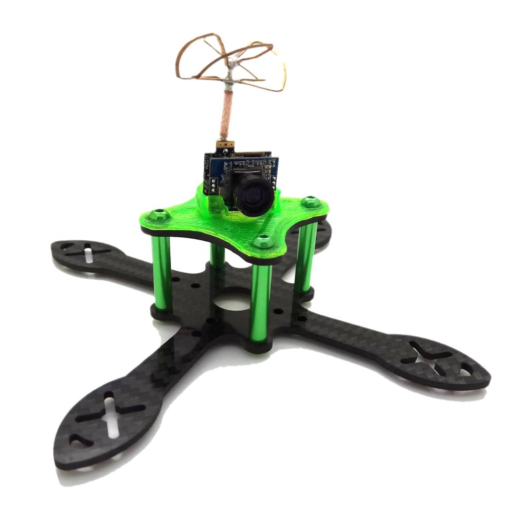 Support combo caméra pour Minikeum vert sur le chassis