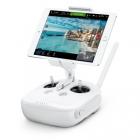 Radiocommande drone DJI Phantom 4 avec le support et une tablette montée dessus