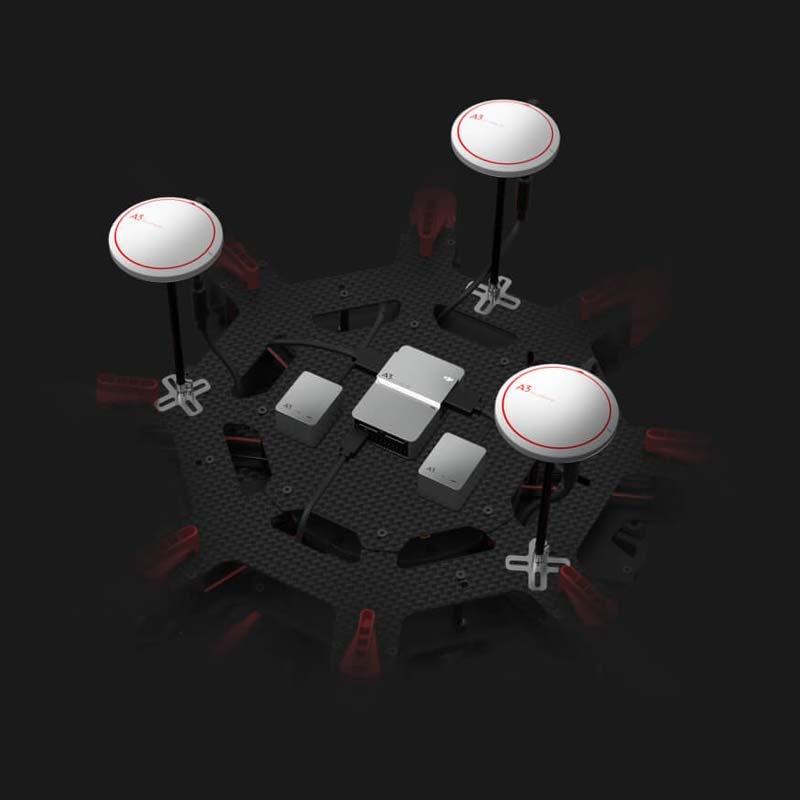 Système de stabilisation GPS DJI A3-PRO monté sur Matrice 600