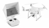 Tablette Android HD900 - Flysight montée sur radio Phantom 3 avec le drone à côté