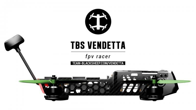 Drone racer TBS Vendetta - vue de profil