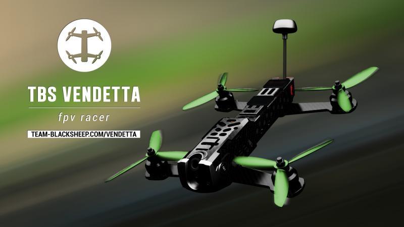 Drone racer TBS Vendetta - drone de course