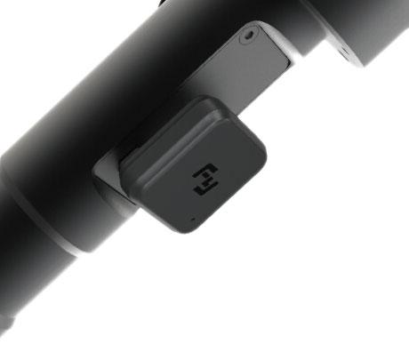 Module de la télécommande bluetooth installé sur un stabilisateur feiyu