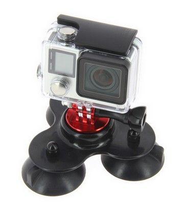Triple ventouse couleur STS pour GoPro