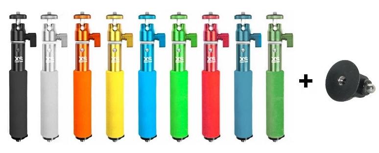 Perche Ushot 50cm Xsories en 9 coloris: rouge, argent, jaune, bleu, vert, gris bleu, noir, vert olive et orange