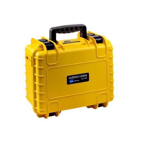 Valise de transport B&W Type 3000 de couleur jaune pour DJI Osmo