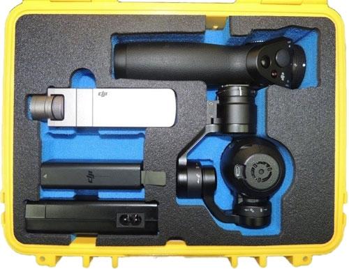 Des compartiments pour accueillir le DJI Osmo et ses accessoires (chargeur, batterie, support smartphone)