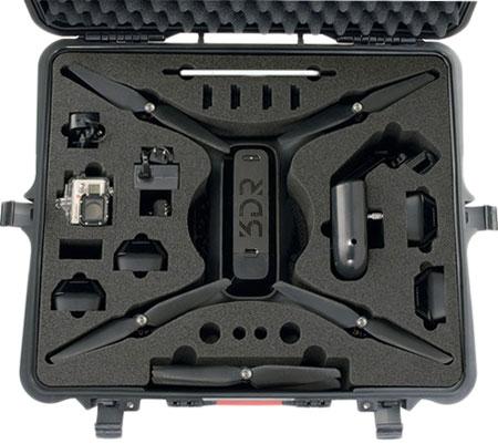 11 compartiments découpés dans une mousse haute densité pour ranger votre drone 3DR Solo et ses accessoires