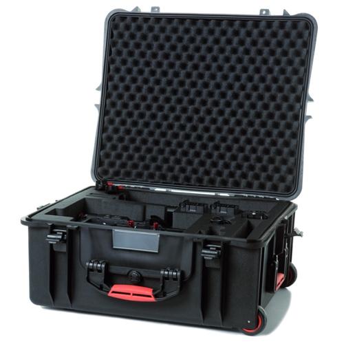 Superbe valise étanche avec roulettes et poignée rétractable, elle saura protéger votre DJI Ronin-M et tous ses accessoires.