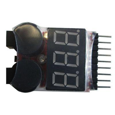 Voltmètre avec alarme - 1 à 8S